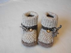 Baby Booties, Baby Shoes, Baby Knitting, Knit Crochet, Baby Kids, Booty, Patterns, Crochet Baby Boots, How To Knit