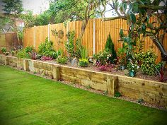 Raised beds inside fence