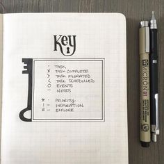 Bullet Journal Page - Key