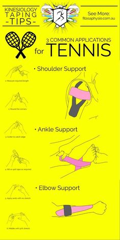 Kinesiology Taping Tips For #TENNIS More at #lorisgolfshoppe #tennisexercises