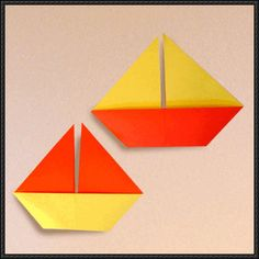 How to Make a Sail Boat Origami