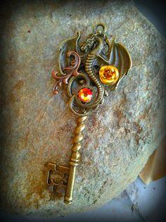 Reign of Fire Fantasy Key by ArtbyStarlaMoore on Etsy, $17.00
