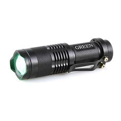MINI TACTICAL LED FLASHLIGHT – GREEN LIGHT  The F5104SE-GN Mini-Sparker Flashlight is great for outdoor activities. It provides you with a bright green light that won't spook game or hinder your night vision. The high brightness of 180 lumens allows you to have a clear view of your surroundings. Additionally, made of aircraft-grade aluminum alloy, it's rugged enough to withstand any harsh environment. Light output: 180 lumens Runtime: 4 hours CREE LED bulb Aluminum alloy body