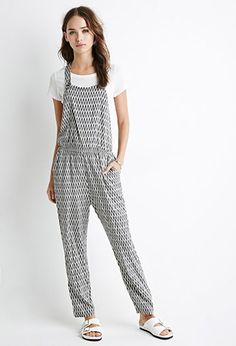 Abstract Print Jumpsuit   Forever 21 - 2000053891