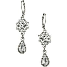 1928 Jewelry Zarina Stardust Pear Drop Earrings