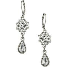 1928 Jewelry Zarina Stardust Pear Drop Earrings