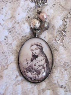 Vintage Assemblage St. Philomena Necklace by angeliquesboutique8, $38.00