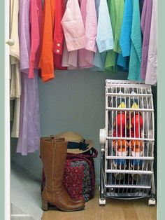 Your shoe collection, large or small, can make your home feel cluttered. Save space with these savvy shoe storage ideas to help keep your home organized.