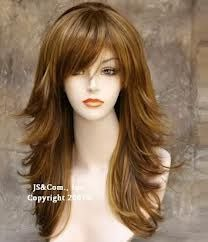 Long layered hair I would do it without bangs