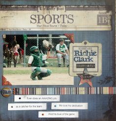 sports scrapbooking layouts images | scrapbook sports layouts - | scrapbook pages