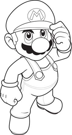 printable coloring pages | mario coloring pages to print