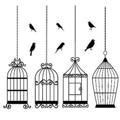 Birds and bird cages - free digi stamps for personal use only.  From http://www.sherykdesigns-blog.com/