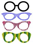 Cut out eyeglass masks, diy paper craft, template, photo booth props