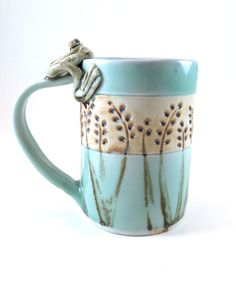 Frog Pottery Mug - Large Ceramic Teacup - Porcelain Coffee Cup - 949  There's your frog!  Maybe our creative paths will line up again one day soon :)