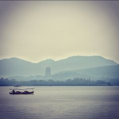 West Lake in a drizzling day, Hang Zhou, China