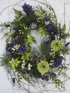 WOODSY SUMMER WREATH by funflorals on Etsy