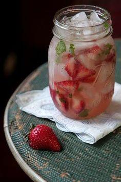 Strawberry Moonshine Julep
