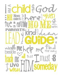 I am a Child of God-this was one of Shawn's favorite songs when he was little :)