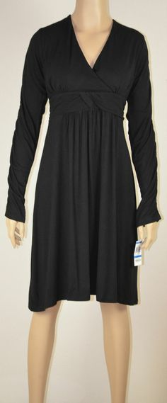 NWT INC International Concepts Black Long Sleeve Empire Waist Dress size XL ONLY $29.99 with FREE SHIPPING