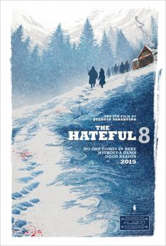 The Hateful Eight: A peaceful landscape interrupted by simmering violence with the blood in the snow, and an almost theatrical approach of the characters to their stage.