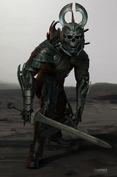 Captain armor modeled after lord Arkons menacing skull helmet/crown only the most elite killers are allowed to be a captain Monster Concept Art, Fantasy Monster, Monster Art, Fantasy Armor, Dark Fantasy Art, Medieval Fantasy, Fantasy Concept Art, Medieval Dress, Fantasy Character Design