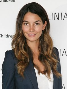Lily Aldridge - Pretty ombre color