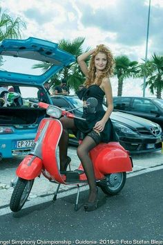 All things Lambretta & Vespa, well all things if they are pictures. (and perhaps the odd other thing that catches my eye from time to time including occasional adult content! Piaggio Vespa, Lambretta Scooter, Vespa Scooters, Red Vespa, Sexy Pin Up Girls, Italian Scooter, Scooter Bike, Retro Scooter, Vespa Girl