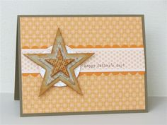 card for men with Faux Chipboard Stars