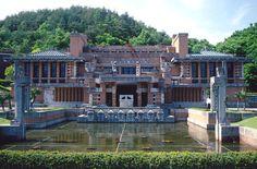 Facade of Frank Lloyd Wright's Imperial Hotel, Meiji Mura