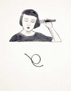 Combing my hair, Self Portrait, 2014-Tallulah Fontaine