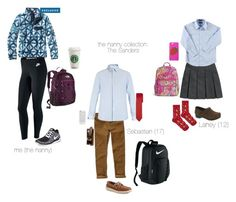 """""""picking up kids from school"""" by meg-parry on Polyvore featuring French Toast, Dansko, Topshop, The North Face, Hollister Co., Valentino, Sperry, NIKE, Patagonia and Banana Republic"""