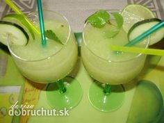 Fotorecept: Uhorkové smoothie Smoothie Detox, Smoothies, Mojito, Glass Of Milk, Barbecue, Ham, Healthy Life, Cooking Recipes, Pudding