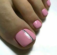 Pink Toe Nail Art Ideas to Copy 27 Pink Toe Nail Art Ideen zum Kopieren 27 – Fiveno Pink Toe Nails, Pretty Toe Nails, Toe Nail Color, Cute Toe Nails, Feet Nails, Toe Nail Art, Pretty Toes, Nail Colors, My Nails