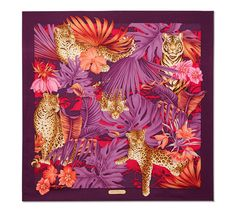 salvatore ferragamo silk scarf jungle print