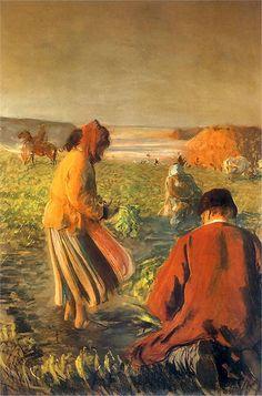 Leon Wyczółkowski - Kopanie buraków or The Beet Harvest 1903