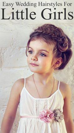 Easy Wedding Hairstyles For Little Girls. I know it's a long shot for ry to let us do her hair but still...