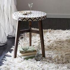 Chevron Wool Shag Rug, 5'x8', Ivory