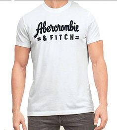 Abercrombie & Fitch Men's Muscle Fit Tee T-Shirt (S, White AF) - Brought to you by Avarsha.com