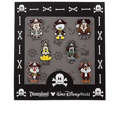 Mickey Mouse Mini Pin Set - Pirates of the Caribbean Disney Pins Sets, Disney Trading Pins, Disney Magic, Disney Pixar, Disney Cars, Disney Stuff, Disney Mickey, Disney Pin Collections, Disneyland Pins