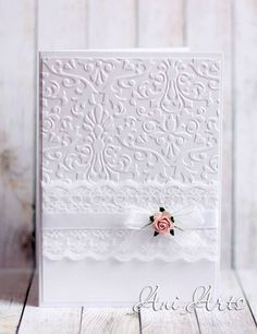 WEDDING Invitation CARD Handmade Unique Elegant Wedding by AniArts