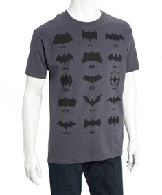 Love this Gray Iconic Batman Logos T-Shirts - Adult by Batman on #zulily! #zulilyfinds