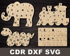 Dinosaur Puzzles, Vector File, Svg File, Tic Tac Toe Game, Shape Puzzles, Educational Games For Kids, Laser Cut Files, Dogs And Kids, Custom Engraving