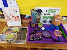 5 Senses Science Activities For Preschoolers Science Center Preschool, Preschool Activities, Learning Centers, Fun Learning, Sense Of Sight, Flashcards For Kids, Reggio Emilia, Classroom Organization, Early Childhood