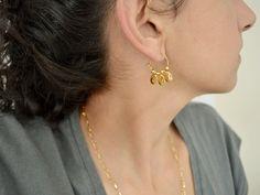 Thin Hoop Earrings, Drop Earrings, Minimal Jewelry, Minimalist Earrings, Antique Silver, Charms, Bead, Pendants
