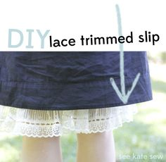 Slip lace extender Tutorial - make it longer. Make it cuter.  @ see kate sew blog w/ tutorials