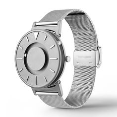 The Bradley watch with a stainless steel mesh strap by Eone. Available at Dezeenwatchstore.com #watches