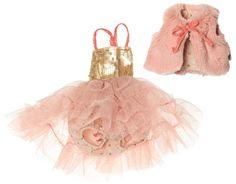 Maileg Best Friends Balletpakje met Bontvestje | Knuffels | Villa Hoera