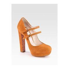 Miu Miu Suede #shoes #heels #fashion