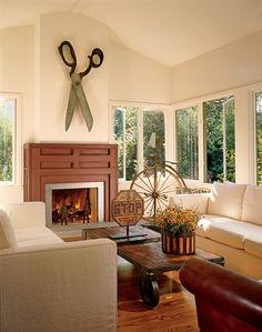 so unique! love this living room design