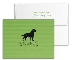 Shamrock Green Foldover Notecard With Die Cut Lab by Luscious Verde Cards Wedding Invitation Design, Wedding Stationery, Personalized Stationery, Note Cards, Lab, Green, Index Cards, Wedding Invitation, Labs